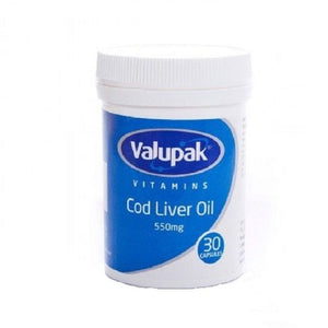 Valupak Cod Liver Oil 550mg | 30 Capsules