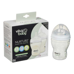Vital Baby Nurture Breast Like Feeding Bottle 240ml | 2 Pack
