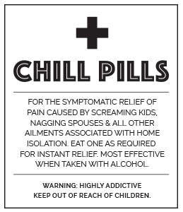 Chill Pill Label Iso Black