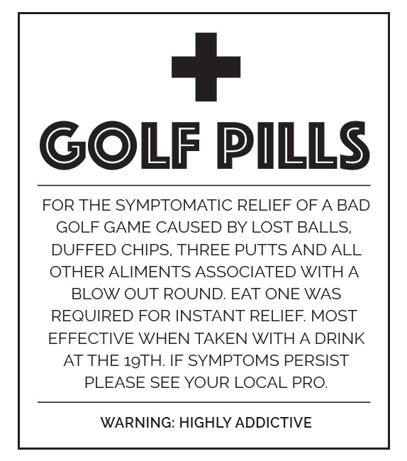 Little Biskut Golf Pills Label