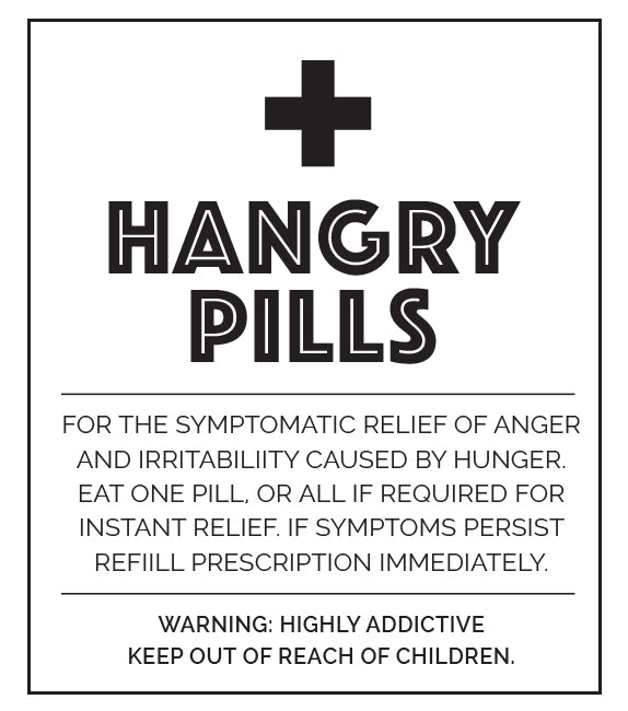 Little Biskut Hangry Pill Label