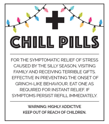 Little Biskut Chill Pill Christmas Label