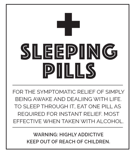 Little Biskut Sleeping Pill Label