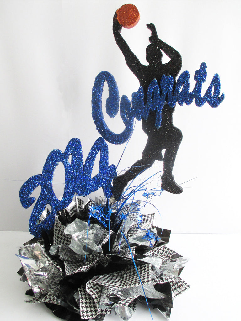 2014 Graduation Sports Themed Centerpieces