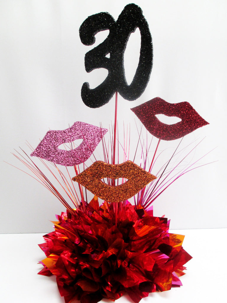30th & 40th birthday celebration centerpieces