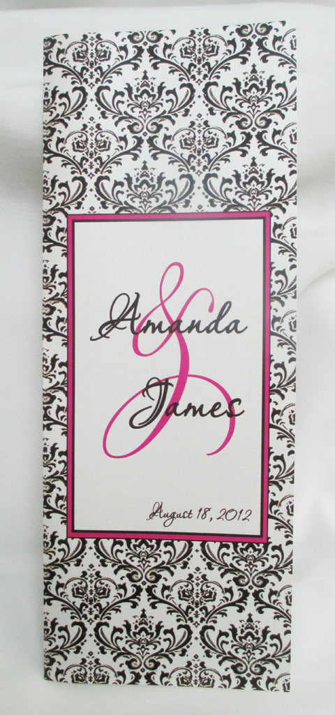 Damask Print Wedding Programs