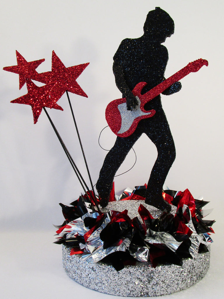 Guitar Player Cutout Centerpiece