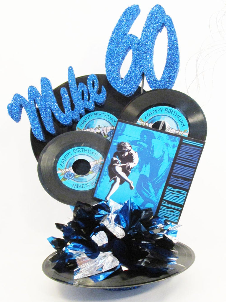 33 & 45 Record Themed Centerpieces