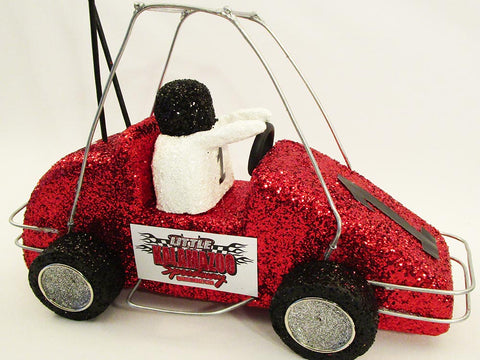 Styrofoam Quarter Midget Race Car Centerpiece