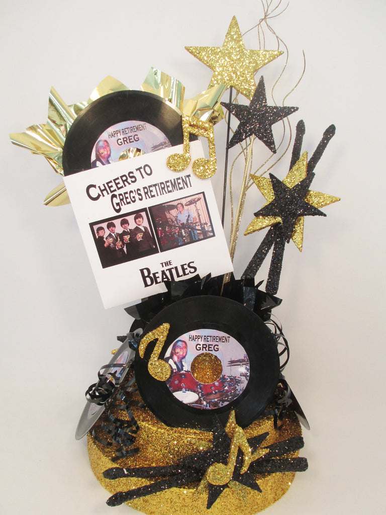 Beatles Themed Retirement Centerpiece