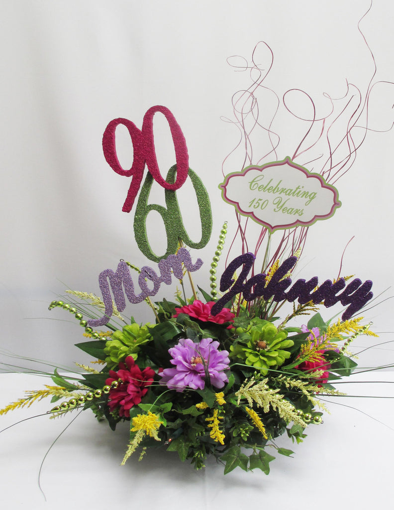 60th & 90th Birthday Centerpiece