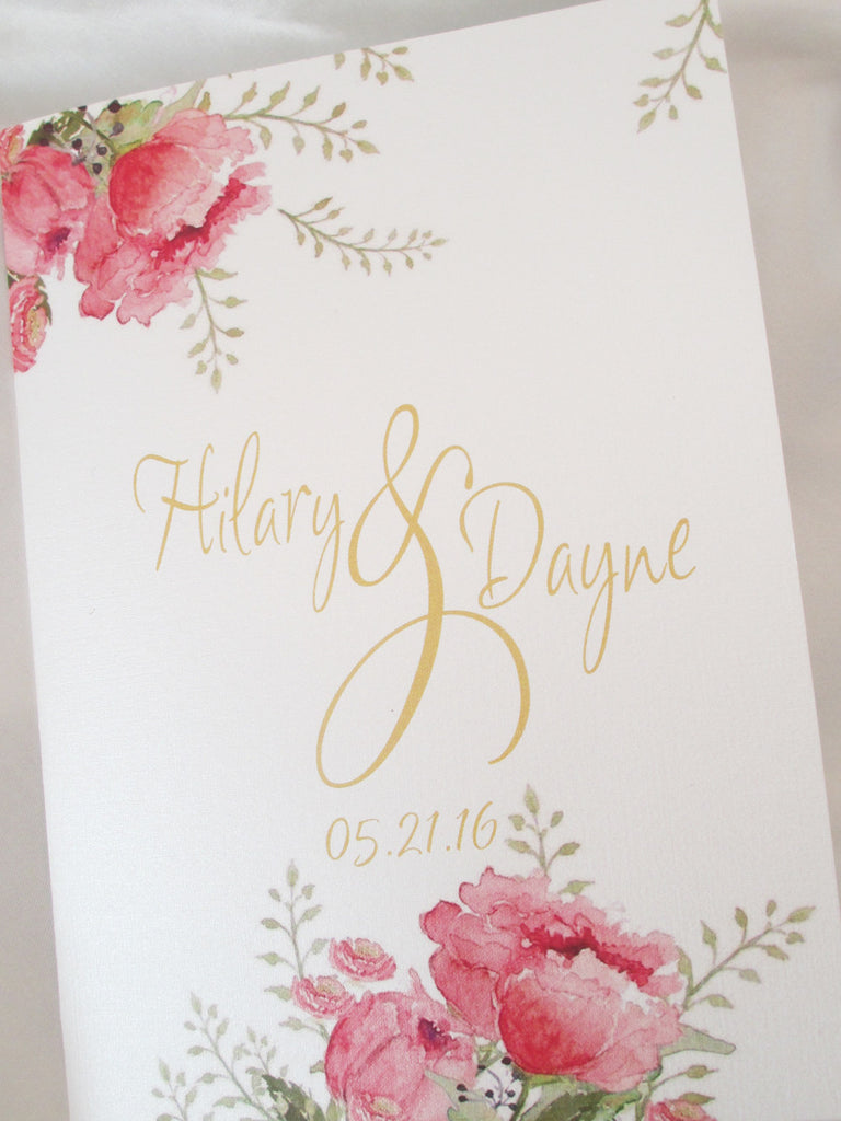 Booklet Style Wedding Programs