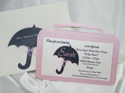 Lunch Pail Cutout Shower Invite