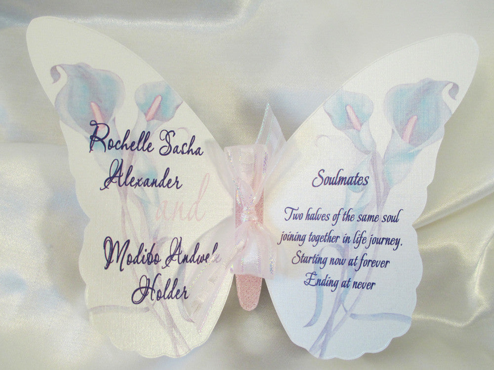 Butterfly Cutout Wedding Invitation