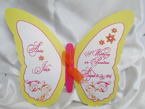 Custom Cut Butterfly Wedding Programs