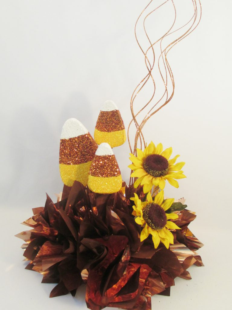 Fall Candy Corn Centerpiece