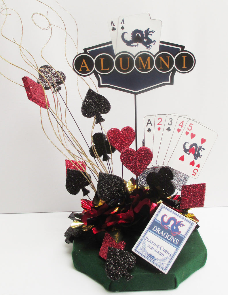 Playing Cards-themed Centerpiece
