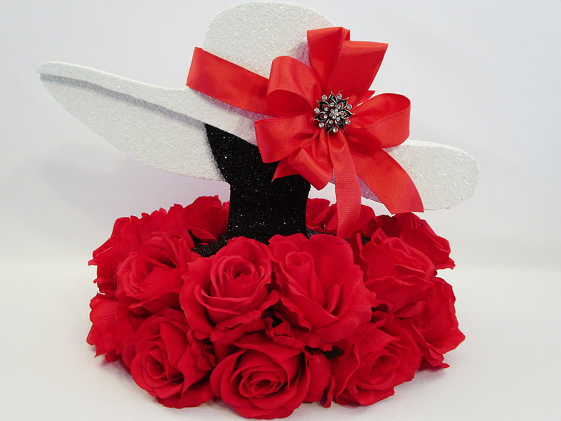 Fabulous Styrofoam and Floral Hat Centerpieces