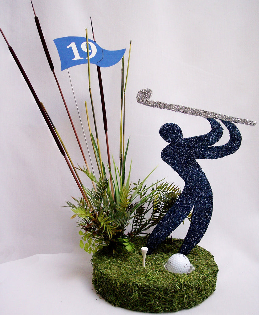 Golfer Silhouette Table Centerpiece