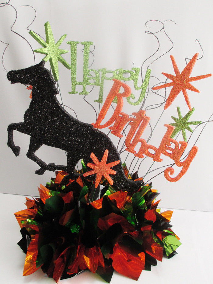 Happy Birthday Horse themed centerpiece