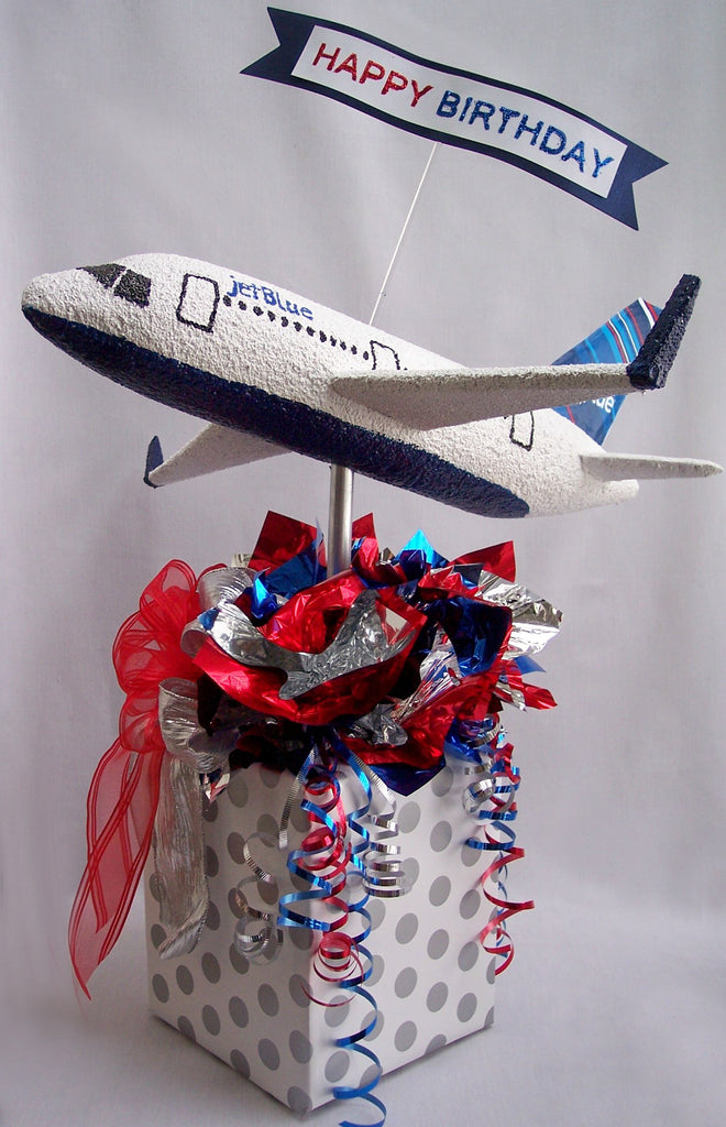 Jet Blue Airplance Birthday Centerpiece