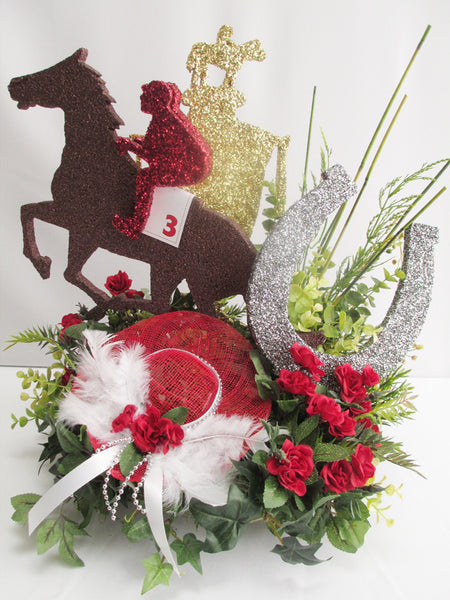 Kentucky Derby themed centerpiece
