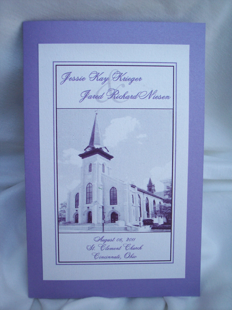 St. Clement Church, Cincinnati, Ohio featured wedding program
