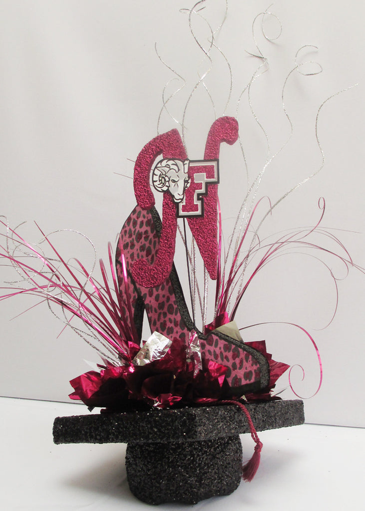 Leopard Shoe and Initial Centerpiece