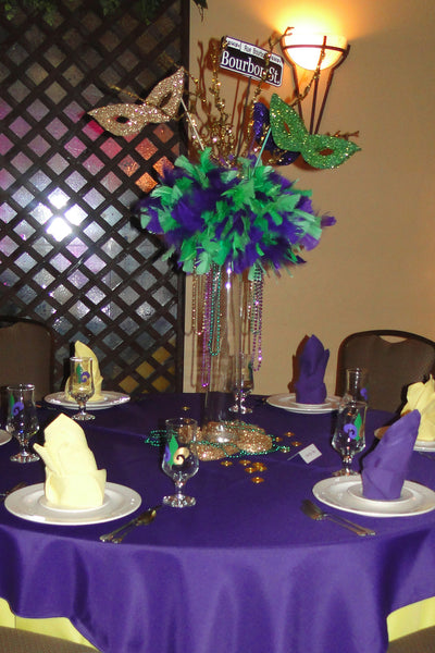 Anniversay, Mardi Gras, Wedding, Holiday Centerpieces