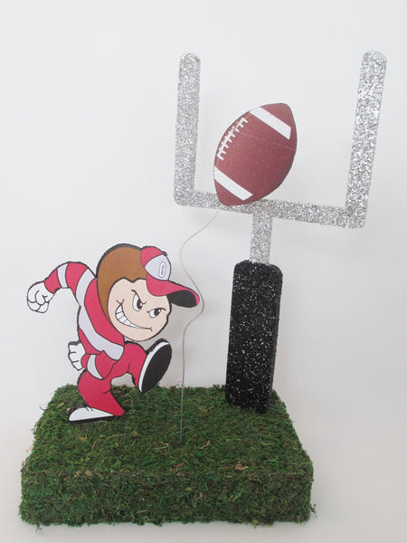 Football themed table or tailgate centerpieces