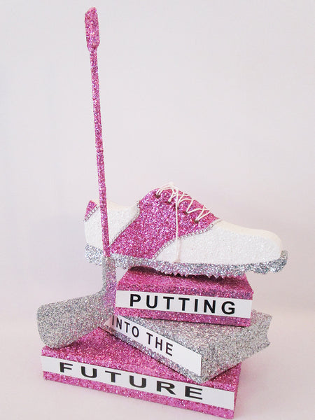 Graduation Centerpieces with High Heel Shoe, Sneaker or Golf Shoe