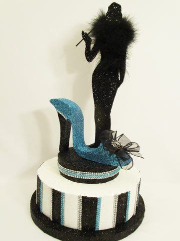 Tiffany Blue, Black & White Table Centerpieces, Birthday, Shower, Graduation & More!