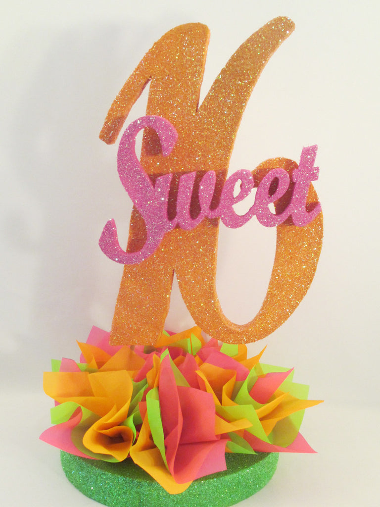 Sweet 16 Large Cutout Centerpiece