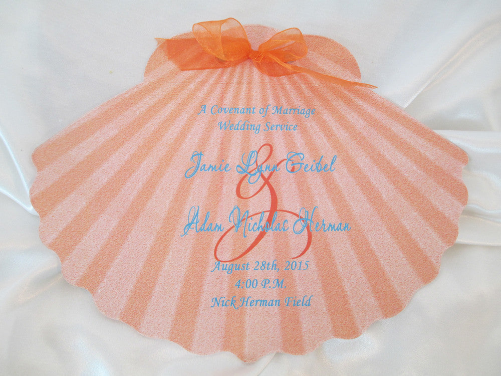 Shell Shaped Wedding Programs
