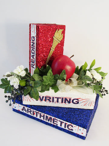 Teacher Themed Table Centerpiece