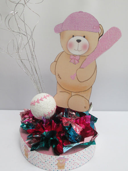 Teddy Bear/Baseball Baby Shower Centerpiece