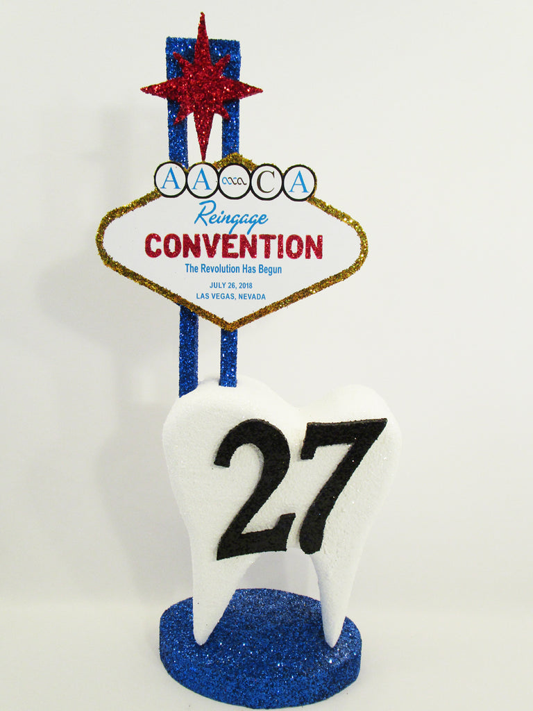 Custom tooth themed Convention Centerpiece