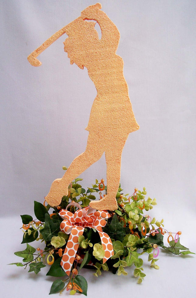 Woman Golfer Centerpiece
