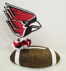 Ball state Cardinals football centerpiece - Designs by Ginny