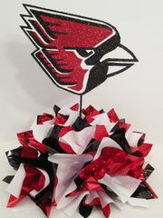 Ball State Cardinals table centerpiece - Designs by Ginny