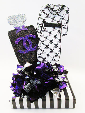 Chanel themed centerpiece - Designs by Ginny
