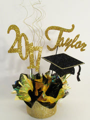 Grad Cap, 2017, faux rhinestone base centerpiece - Designs by Ginny