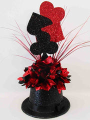 Casino themed centerpiece - Designs by Ginny