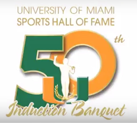 University of Miami Hall of fame Induction Banquet Logo
