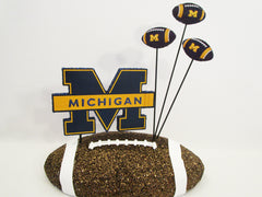 University of Michigan football centerpiece - Designs by Ginny