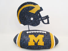 U of M football and helmet centerpiece - Designs by Ginny