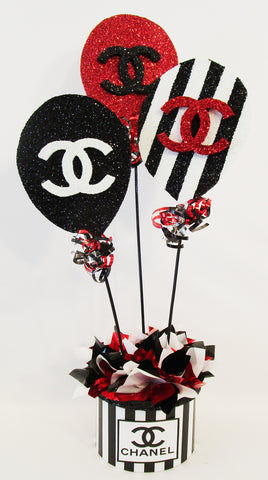 Chanel Birthday Balloon Centerpiece - Designs by Ginny