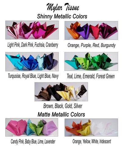 metallic tissue colors - designs by ginny