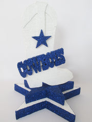 Dalls Cowboys centerpiece - Designs by Ginny