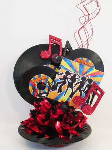 Record themed disco centerpiece - Designs by Ginny